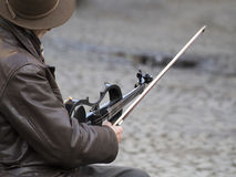 Violin busker Stock Photography