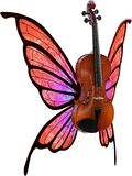 Violin, Butterfly Wings, Music, Isolated