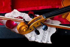 Violin in carry case Stock Image