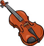 Violin cartoon illustration clip art Stock Photos