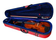 Violin in Case Royalty Free Stock Photo