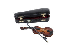 Violin with Case Stock Photography