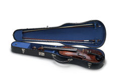 Violin in a case Stock Image