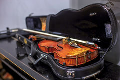 Violin in a case Stock Photos