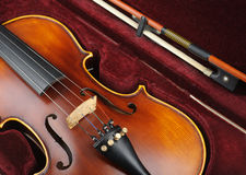 Violin in case. Royalty Free Stock Photos