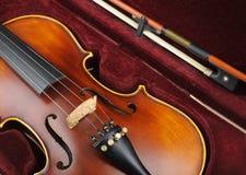 Violin in case. Royalty Free Stock Photos