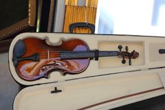 Violin in Case royalty free stock photo