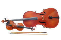 Violin and cello Royalty Free Stock Images