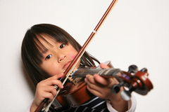 Violin child Stock Images