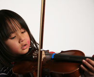 Violin child Royalty Free Stock Photography