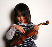 Violin child Royalty Free Stock Image