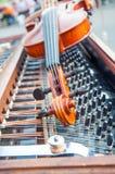 Violin. On cimbalom in Harvest Festival celebrations Stock Images