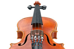 Violin classical instrument, close view. Violin classical wooden instrument, close view. 3D graphic Royalty Free Stock Photography