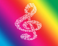 Music violin clef rainbow. Royalty Free Stock Images