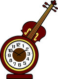 Violin Clock Royalty Free Stock Images