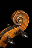 Violin close up. Close up of the head of a violin royalty free stock photo