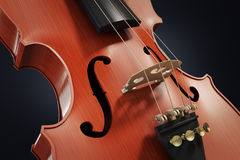 Violin close-up Royalty Free Stock Image