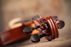 Violin close up Stock Photo