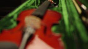 Violin close up stock footage