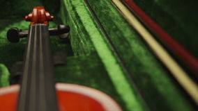 Violin close up stock video