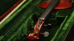 Violin close up stock video footage