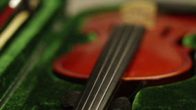 Violin close up stock footage