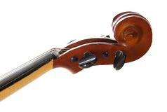 Violin close up, isolated on white Stock Images