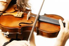 Violin closeup Stock Photos