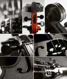 Violin collage Royalty Free Stock Images