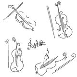 Violin. Collection for your design. Royalty Free Stock Images
