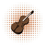 Violin comics icon. On a white background Stock Photos