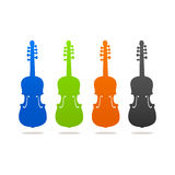 Violin contour  icon sign logo Stock Photo
