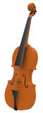 The violin. 3d generated picture of a violin Royalty Free Stock Images