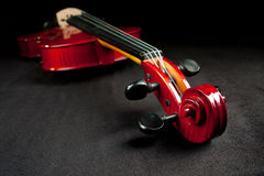 Violin on dark background Royalty Free Stock Images