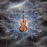 Violin Design. With arcs of eletricity  Some elements provided courtesy of NASA Stock Photography
