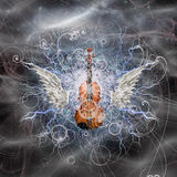 Violin Design Royalty Free Stock Photo