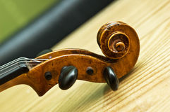 Violin detail Stock Photography