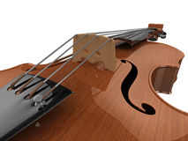 Violin detail. High quality, realistic close-up illustration of a polished violin Stock Photography