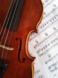 Violin. Detail of a violin Stock Photography