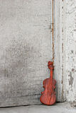 Violin by the door Royalty Free Stock Image