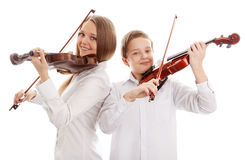 Violin duet Royalty Free Stock Photos