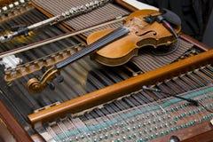 Violin. A violin on a dulcimer royalty free stock images