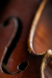 Violin F-hole royalty free stock photo