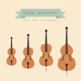 Violin family Royalty Free Stock Photos