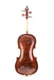 Violin or fiddle from the back side. On a white background Royalty Free Stock Photography