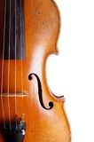 Violin or fiddle detail Royalty Free Stock Photo