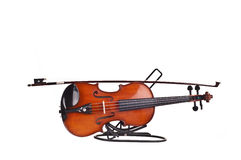 Violin and a fiddlestick Royalty Free Stock Photo