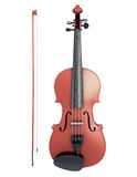 Violin and fiddlestick front view Royalty Free Stock Photography