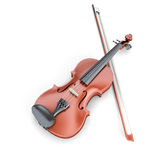 Violin and fiddlestick. On white background. 3d render image Royalty Free Stock Image
