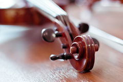 Violin fingerboard Royalty Free Stock Photos